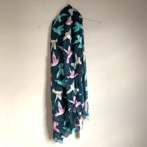 The Scarf company Blue hummingbird scarf NWT